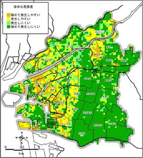 大阪の危険度マップ