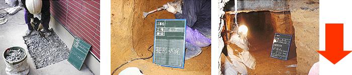 土間ハツリ・床下堀削・トンネル掘り