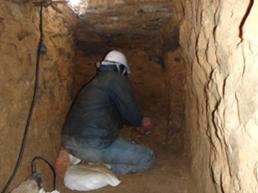 掘削工(トンネル掘削状況)