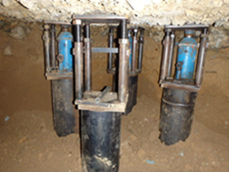 鋼管圧入工(圧入完了)